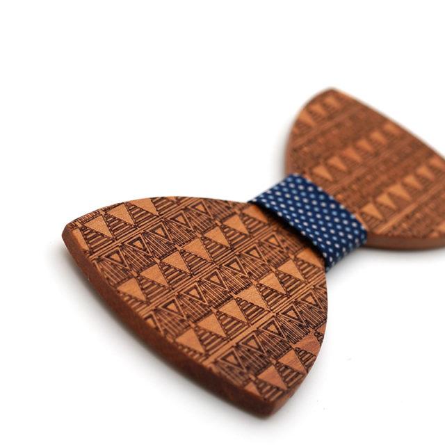 Dřevěný motýlek Mahoosive - Bert