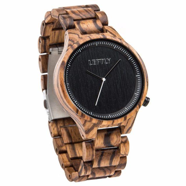 Dřevěné hodinky LEFTLY - Amos