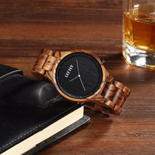 Dřevěné hodinky LEFTLY - Asan