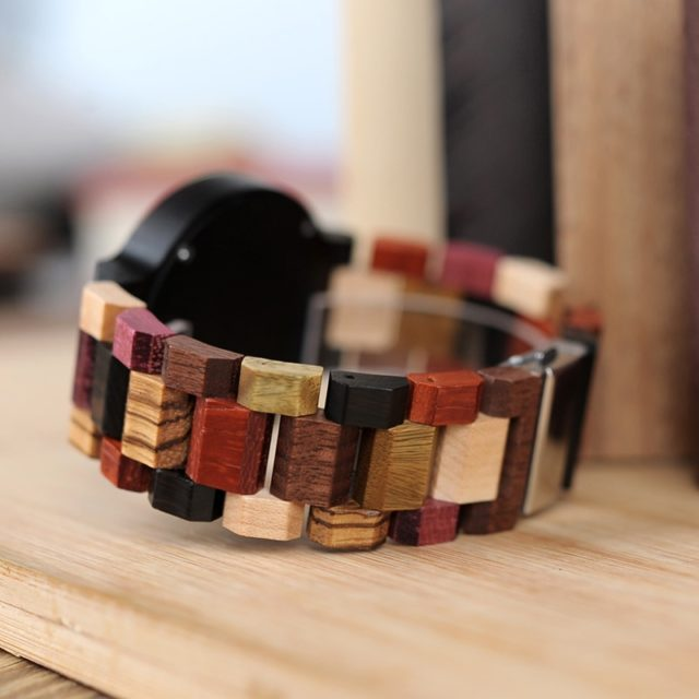 Dřevěné hodinky BOBO BIRD - Agga