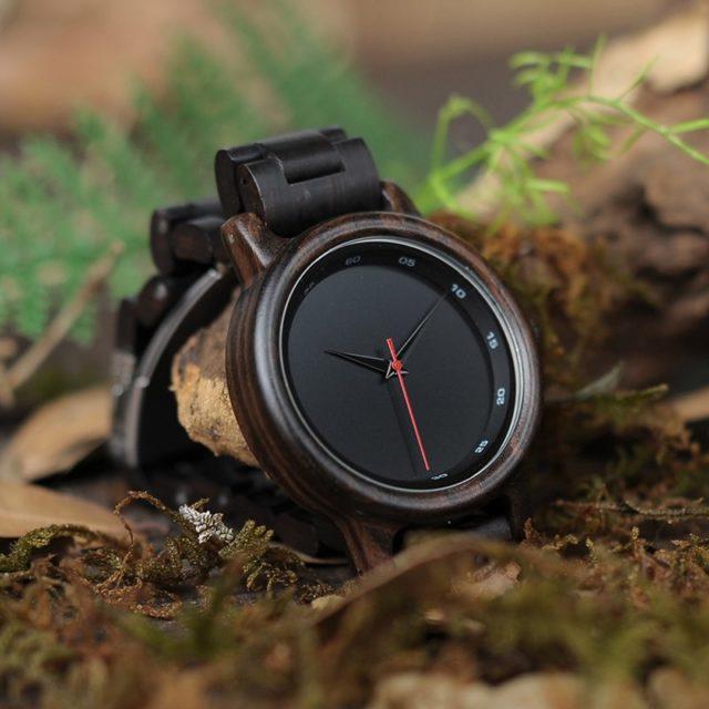 Dřevěné hodinky BOBO BIRD - Ajax