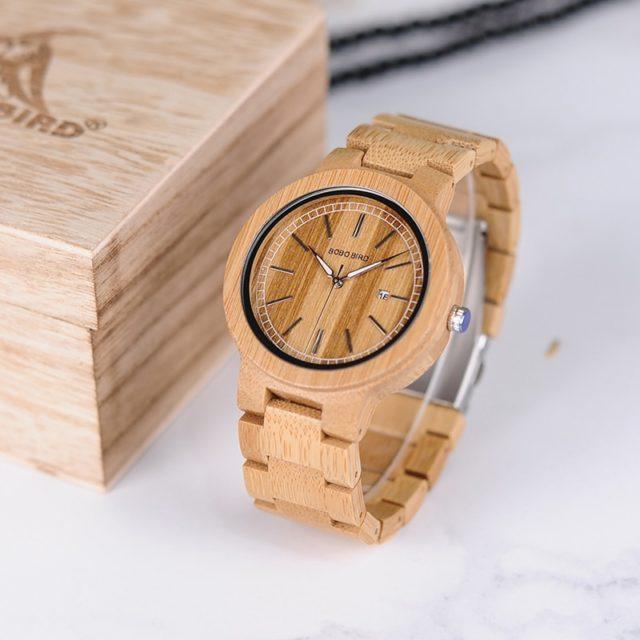 Dřevěné hodinky BOBO BIRD - Connie