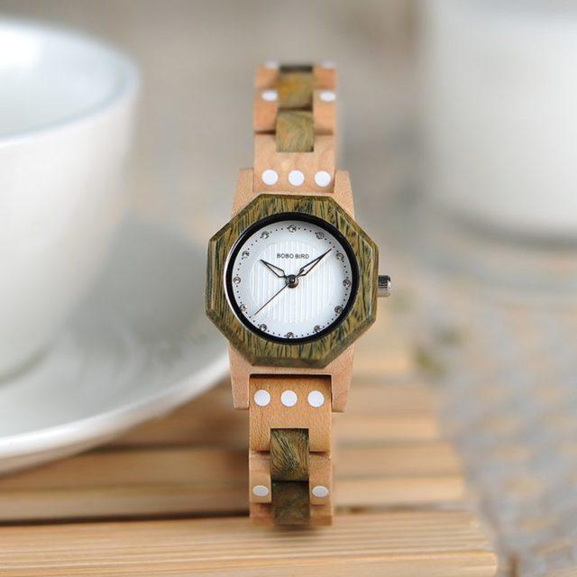 BOBO BIRD dámské hodinky , exotické zebrano dřevo , 3 druhy