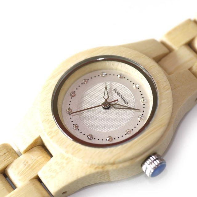 Dřevěné hodinky BOBO BIRD - Clea
