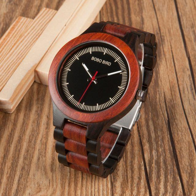 Dřevěné hodinky BOBO BIRD - Gaston
