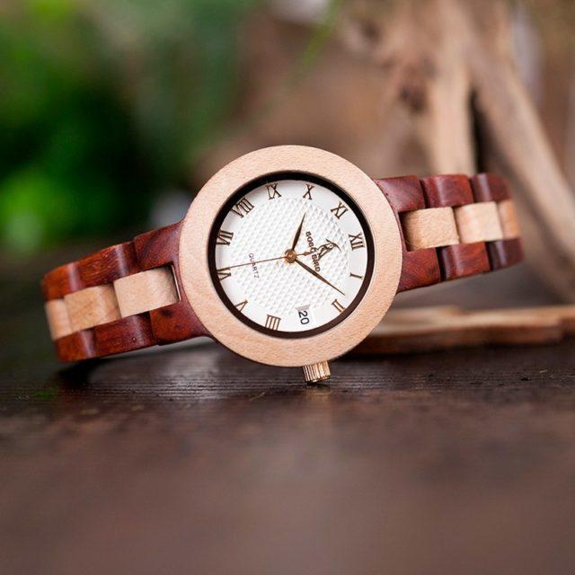 Dřevěné hodinky BOBO BIRD - Carmen