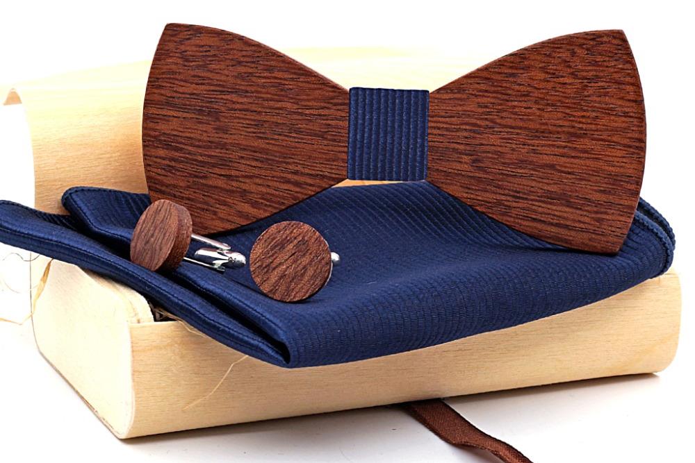 Wholesale Mahoosive Wood Bow Tie Mens Butterfly Cravat Party Ties For Men Wooden Bow Ties Gravatas Corbatas Special Link