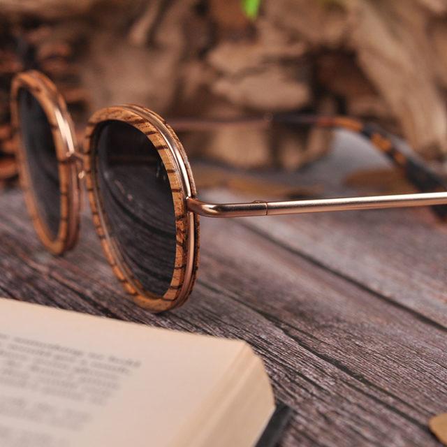 BOBO BIRD Wooden Polarized Sunglasses Women Fashion Collection Retro Vintage UV400 Glasses Gafas de sol V-AG027