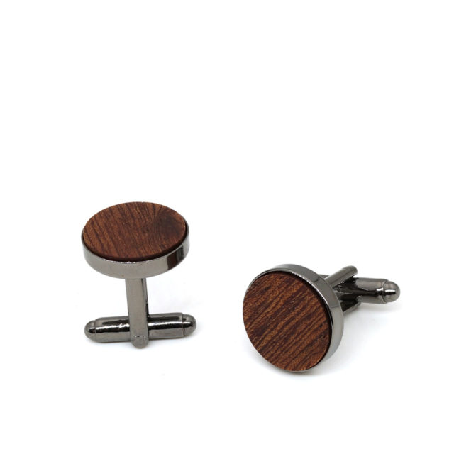 MAHOOSIVE Wood fashion shirt cufflink for mens gift Brand cuff button Black Wooden cuff link abotoaduras