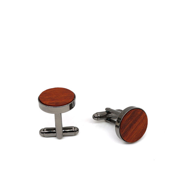 Mahoosive Classical men's new Red Rosewood Wooden Cufflinks French wedding dress shirt accessories Cuff Links for men