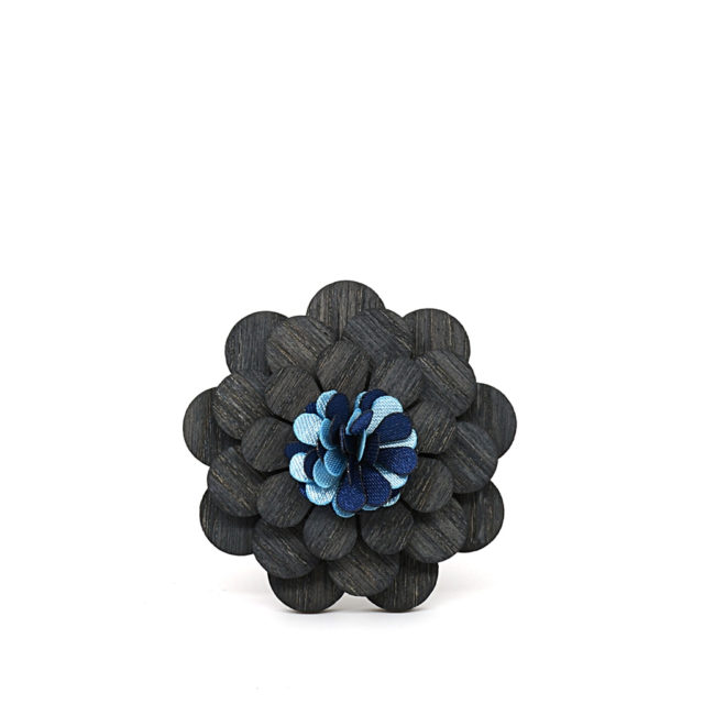 Mahoosive Fashion Wood Brooch Lapel Pins Flowers Enamel For Men Girl Women Wooden Broches Collar Badge Wedding Suit decor