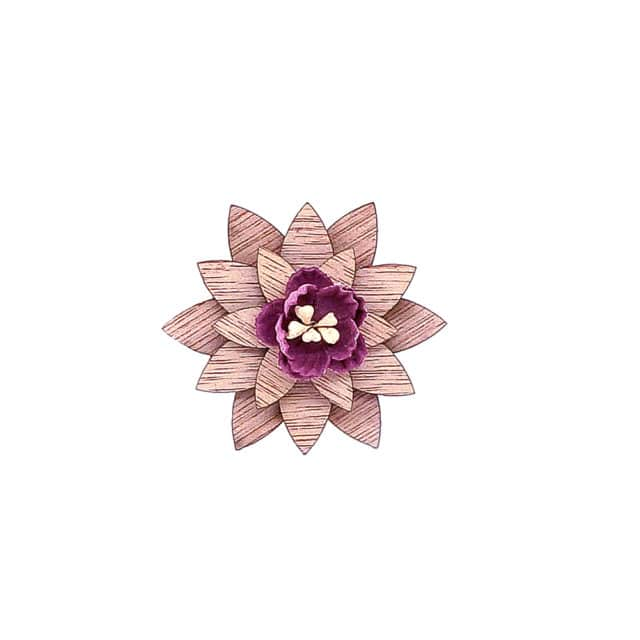 Mens Wood Lapel flower Brooch pin Handmade Lapel pin For Men Wedding Party Suit Decoration Boutonniere Corsage