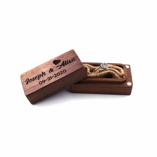 Dřevěná krabička na prstýnky – Jenia
