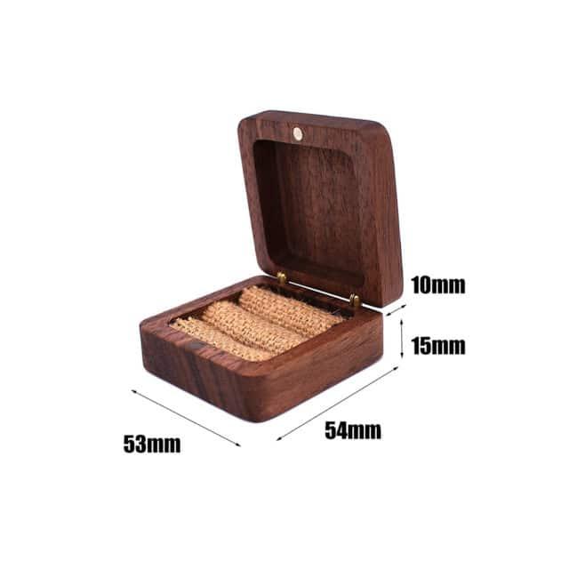 Dřevěná krabička na prstýnky – Khachig