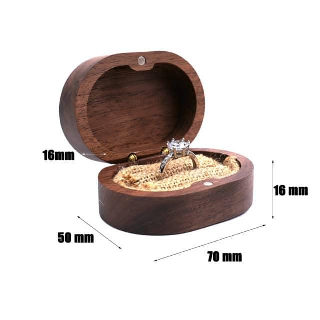 Dřevěná krabička na prstýnky - Hovan