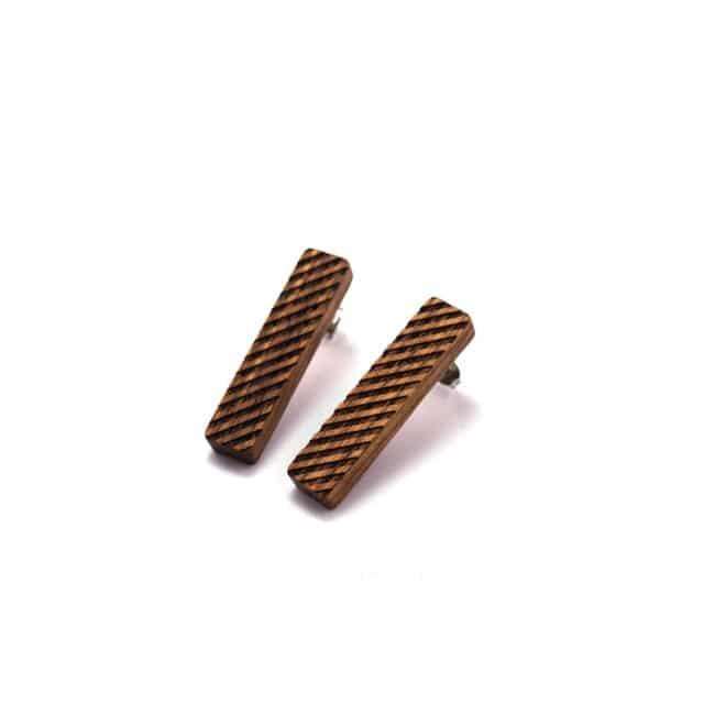 Dřevěné náušnice - Gadarine