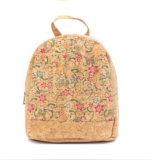 Natural cork backpack women flower bag girls mini small bag - BAG-617-A